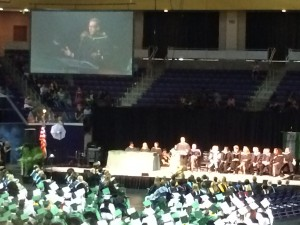 Brian Williams at Hillwood High School graduation