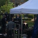 Brian Williams on set at Lipscomb
